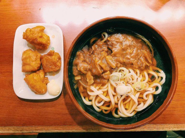 Curry Udon with Karaage at Shin-Shirakawa Station
