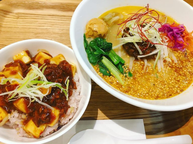 Ts Tan Tan Vegan Ramen with Mapo Tofu